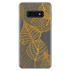 Funda Gel Transparente para Samsung Galaxy S10e diseño Hojas Dibujos