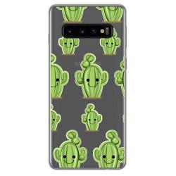 Funda Gel Transparente para Samsung Galaxy S10 Plus diseño Cactus Dibujos