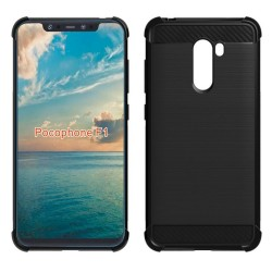 Funda Gel Tpu Anti-Shock Carbon Negra para Xiaomi Pocophone F1