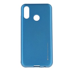 Funda Gel Tpu Mercury i-Jelly Metal para Huawei P Smart 2019 / Honor 10 Lite color Azul