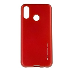 Funda Gel Tpu Mercury i-Jelly Metal para Huawei P Smart 2019 / Honor 10 Lite color Roja