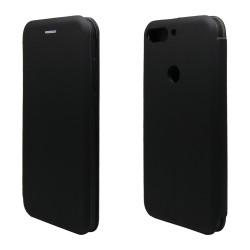 Funda Libro Soporte Magnética marca Vennus Negra para Huawei Honor 7C / Y7 2018