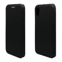 Funda Libro Soporte Magnética marca Vennus Negra para Iphone Xr