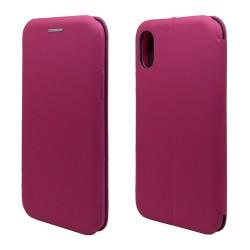 Funda Libro Soporte Magnética marca Vennus Rosa para Iphone Xs Max