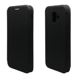 Funda Libro Soporte Magnética marca Vennus Negra para Samsung Galaxy A6 Plus (2018)