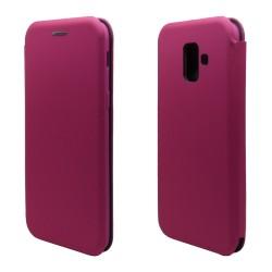 Funda Libro Soporte Magnética marca Vennus Rosa para Samsung Galaxy A6 Plus (2018)