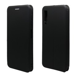 Funda Libro Soporte Magnética marca Vennus Negra para Samsung Galaxy A7 (2018)