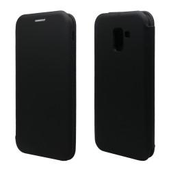 Funda Libro Soporte Magnética marca Vennus Negra para Samsung Galaxy J6+ Plus