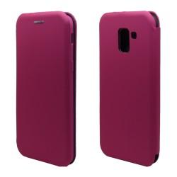 Funda Libro Soporte Magnética marca Vennus Rosa para Samsung Galaxy J6+ Plus