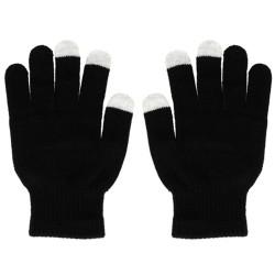Guantes para Pantallas Táctiles Color Negro Unisex