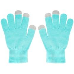 Guantes para Pantallas Táctiles Color Azul Turquesa Unisex