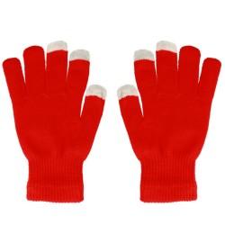 Guantes para Pantallas Táctiles Color Rojo Unisex