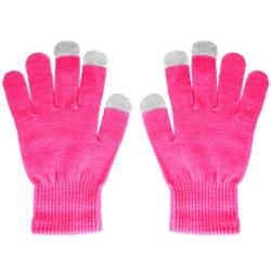 Guantes para Pantallas Táctiles Color Rosa Unisex