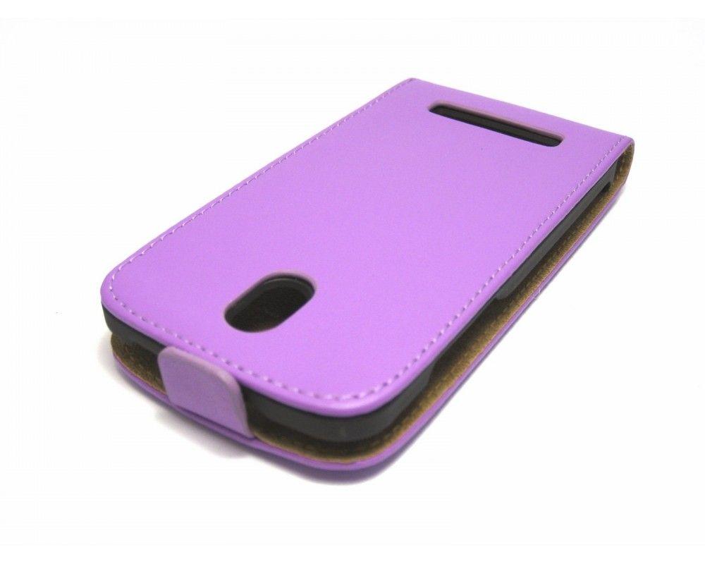 Funda Piel Premium Ultra-Slim HTC Desire 500 Morada /  Violeta