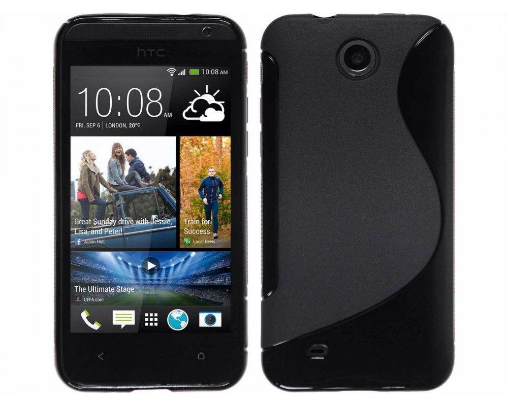 Funda Gel Tpu HTC Desire 300 S Line Color Negra