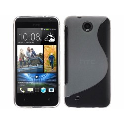 Funda Gel Tpu HTC Desire 300 S Line Color Transparente