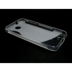 Funda Gel Tpu HTC Desire 300 S Line Color Transparente