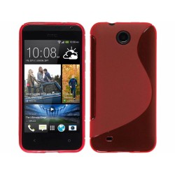 Funda Gel Tpu HTC Desire 300 S Line Color Roja