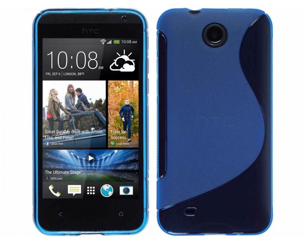 Funda Gel Tpu HTC Desire 300 S Line Color Azul