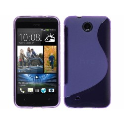 Funda Gel Tpu HTC Desire 300 S Line Color Morada