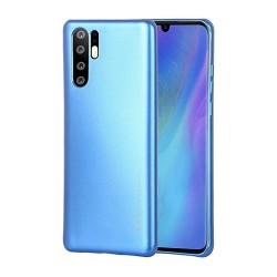 Funda Gel Tpu Mercury i-Jelly Metal para Huawei P30 Pro color Azul