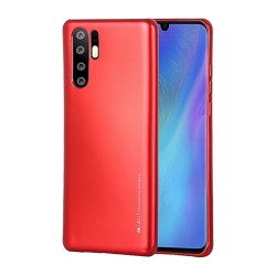 Funda Gel Tpu Mercury i-Jelly Metal para Huawei P30 Pro color Roja
