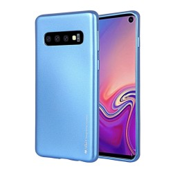 Funda Gel Tpu Mercury i-Jelly Metal para Samsung Galaxy S10 color Azul