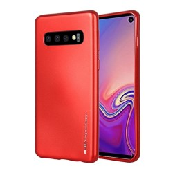 Funda Gel Tpu Mercury i-Jelly Metal para Samsung Galaxy S10 color Roja