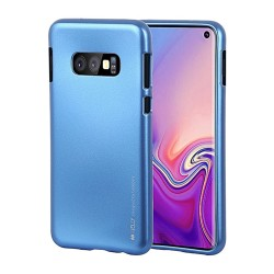 Funda Gel Tpu Mercury i-Jelly Metal para Samsung Galaxy S10 Plus color Azul