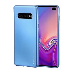 Funda Gel Tpu Mercury i-Jelly Metal para Samsung Galaxy S10e color Azul