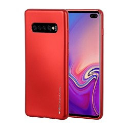 Funda Gel Tpu Mercury i-Jelly Metal para Samsung Galaxy S10e color Roja