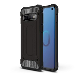 Funda Tipo Hybrid Tough Armor (Pc+Tpu) Negra para Samsung Galaxy S10