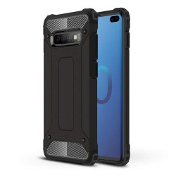 Funda Tipo Hybrid Tough Armor (Pc+Tpu) Negra para Samsung Galaxy S10 Plus