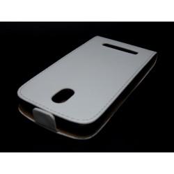 Funda Piel Premium Ultra-Slim HTC Desire 500 Blanca