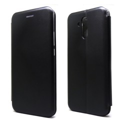 Funda Libro Soporte Magnética marca Forcell Negra para Huawei Mate 20 Lite