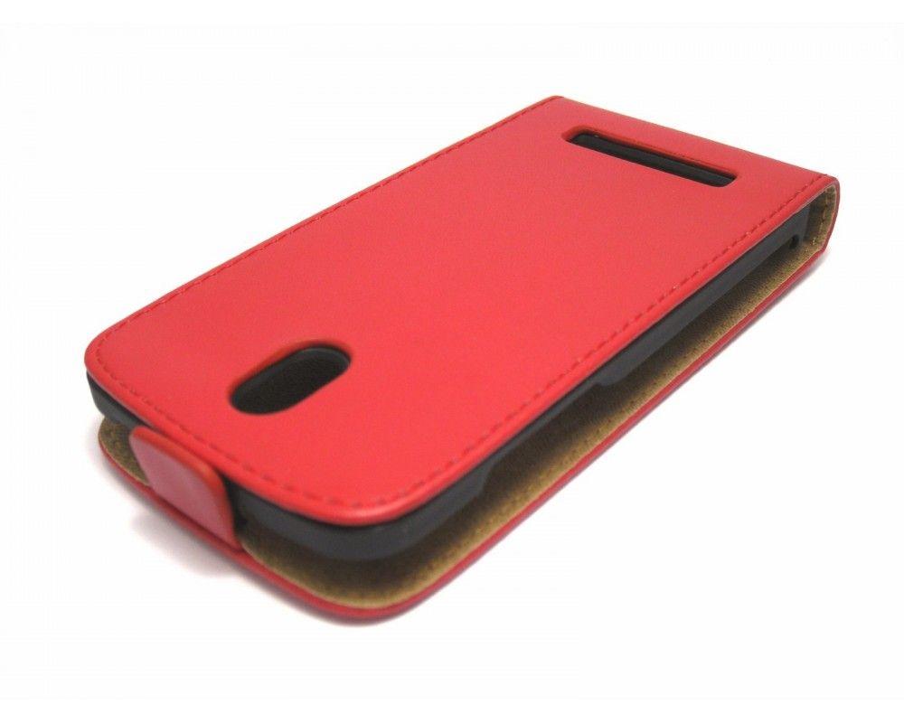 Funda Piel Premium Ultra-Slim HTC Desire 500 Roja