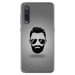 Funda Gel Tpu para Xiaomi Mi 9 diseño Barba Dibujos