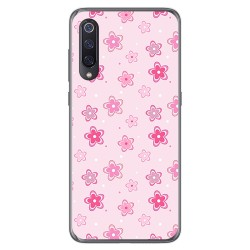 Funda Gel Tpu para Xiaomi Mi 9 diseño Flores Dibujos
