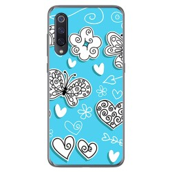 Funda Gel Tpu para Xiaomi Mi 9 diseño Mariposas Dibujos