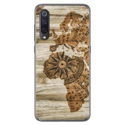 Funda Gel Tpu para Xiaomi Mi 9 diseño Madera 07 Dibujos
