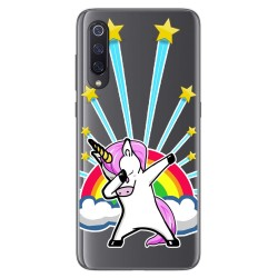 Funda Gel Transparente para Xiaomi Mi 9 diseño Unicornio Dibujos