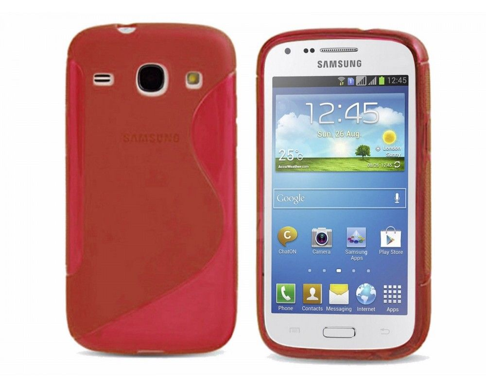 Funda Gel Tpu Samsung Galaxy Core Plus G350 S Line Color Roja