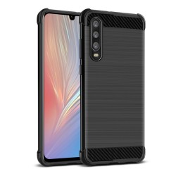 Funda Gel Tpu Anti-Shock Carbon Negra para Huawei P30