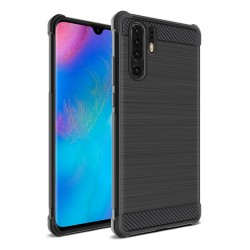 Funda Gel Tpu Anti-Shock Carbon Negra para Huawei P30 Pro