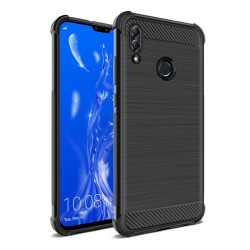 Funda Gel Tpu Anti-Shock Carbon Negra para Huawei Y9 2019