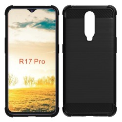 Funda Gel Tpu Anti-Shock Carbon Negra para Oppo RX17 Pro