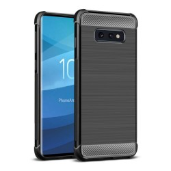 Funda Gel Tpu Anti-Shock Carbon Negra para Samsung Galaxy S10e