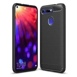Funda Gel Tpu Tipo Carbon Negra para Huawei Honor View 20