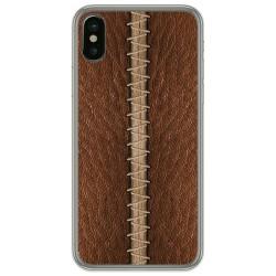 Funda Gel Tpu para Iphone X / Xs diseño Cuero 01 Dibujos