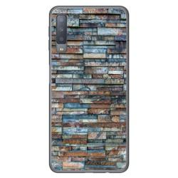 Funda Gel Tpu para Samsung Galaxy A7 (2018) diseño Ladrillo 05 Dibujos